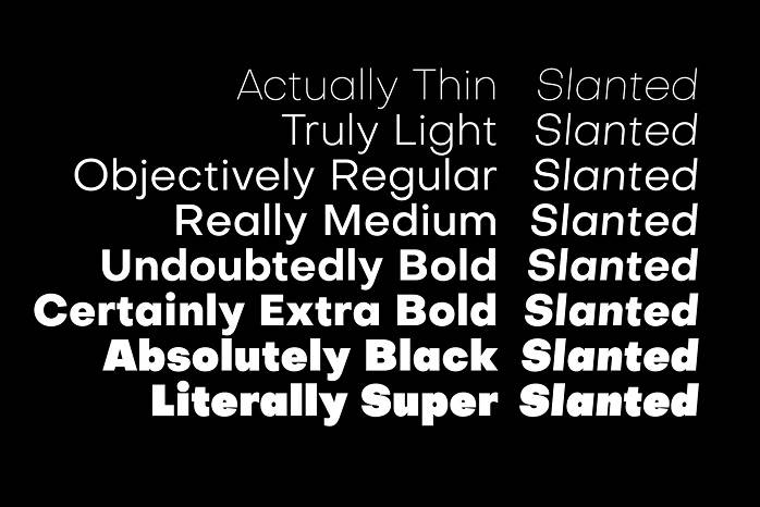 Objective Font Family-1
