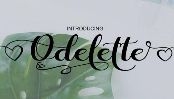 Odelette Font