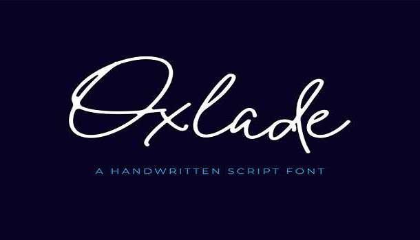 Oxlade Font