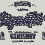 Signature Font