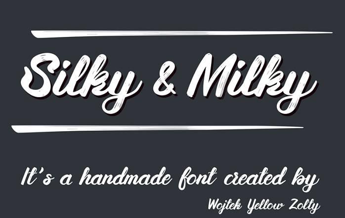 Silky&Milky Font