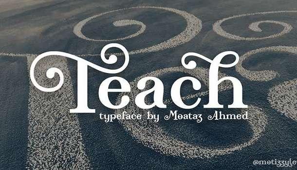 Teach Font
