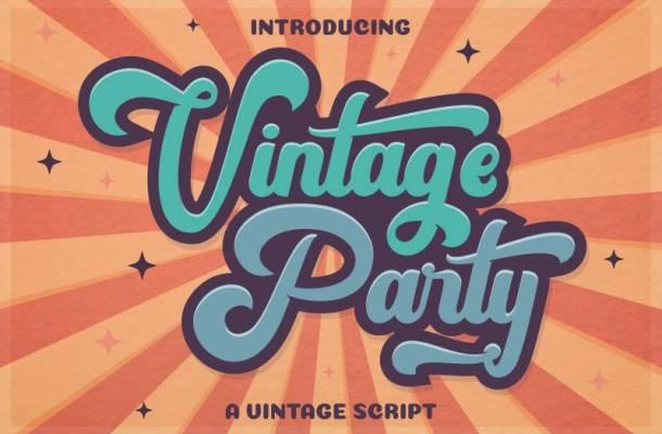 Vintage Party Font