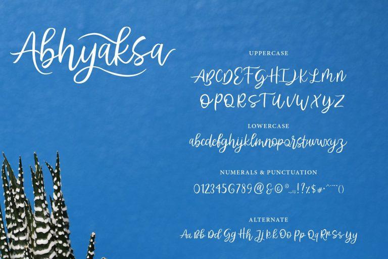 Abhyaksa Handwritten Font-2