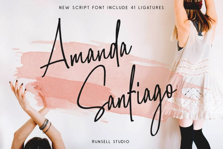 Amanda Santiago Script Font