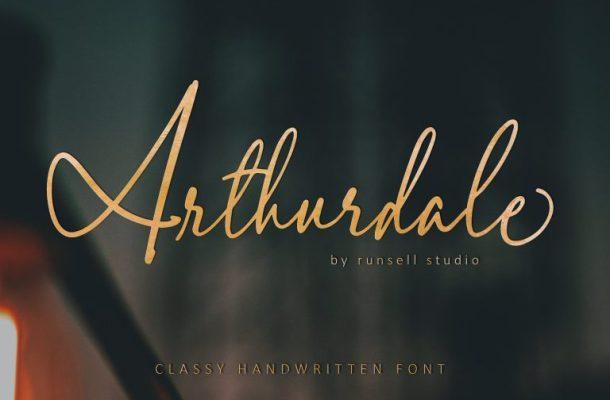 Arthurdale Handwriting Font