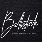 Ballistick Signature Font