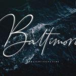 Baltimore Signature Font