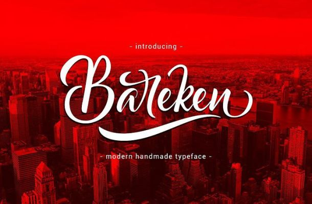 Bareken Script Font