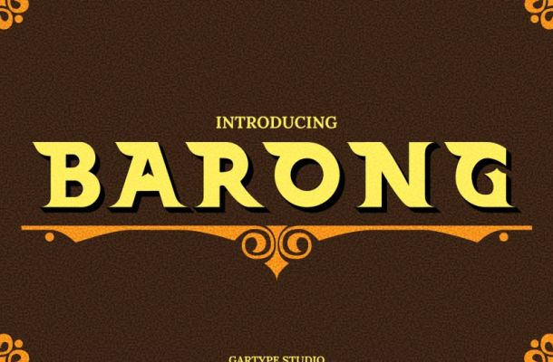 Barong Typeface