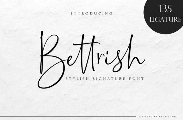 Bettrish Signature Font
