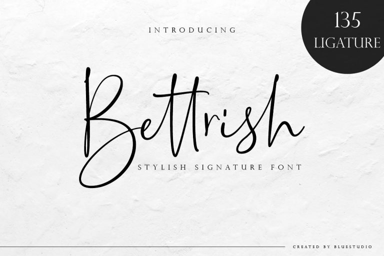 Bettrish Signature Font