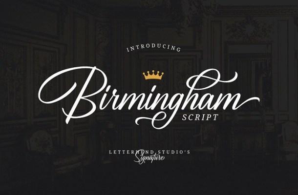 Birmingham Script Font