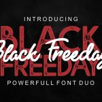 Black Freeday Font Duo