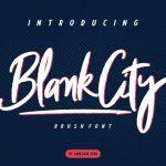 Blank City Brush Font