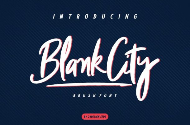 Blank City Brush Font
