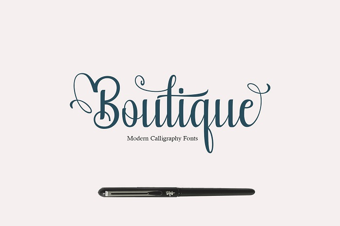 Boutique Calligraphy Font