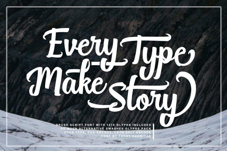 Break Stones Script Brush Font-1