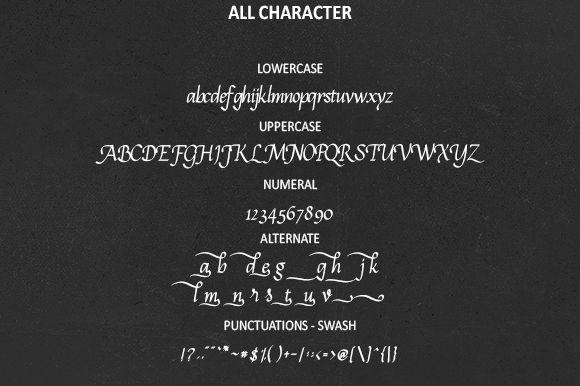 Calligram Calligraphy Font-2