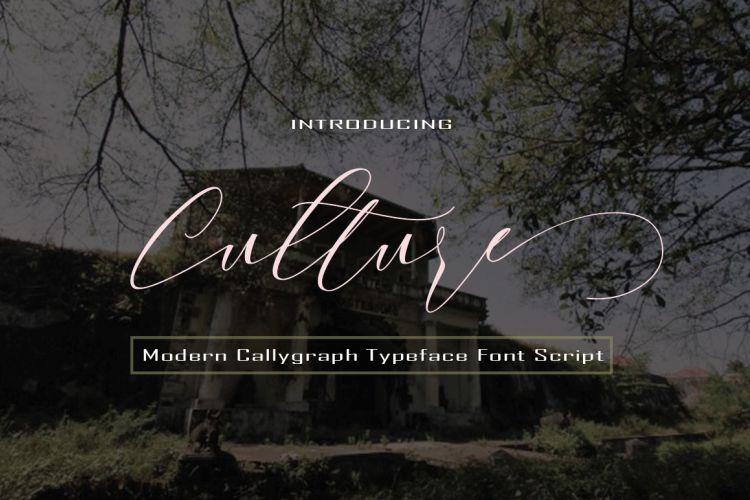 Culture Script Font