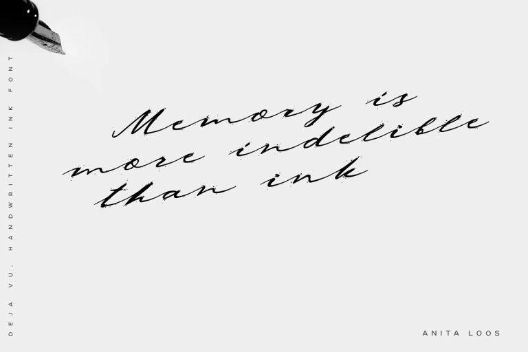 Deja Vu Handwritten Ink Font-1
