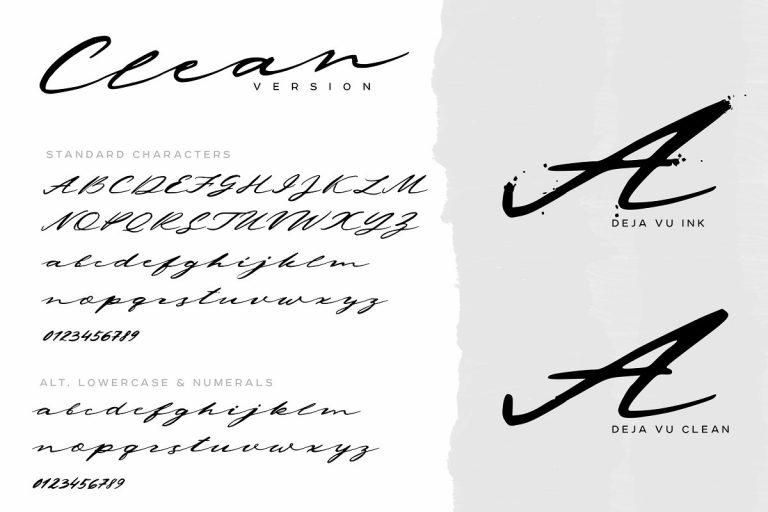 Deja Vu Handwritten Ink Font-2