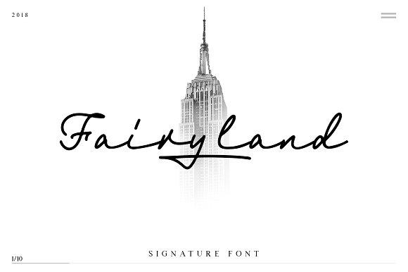 Fairyland Signature Font