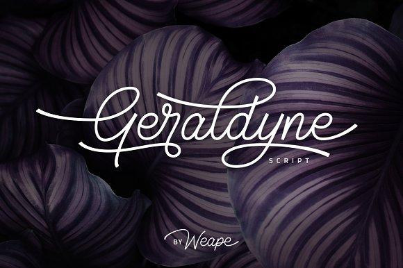 Geraldyne Script Font-2