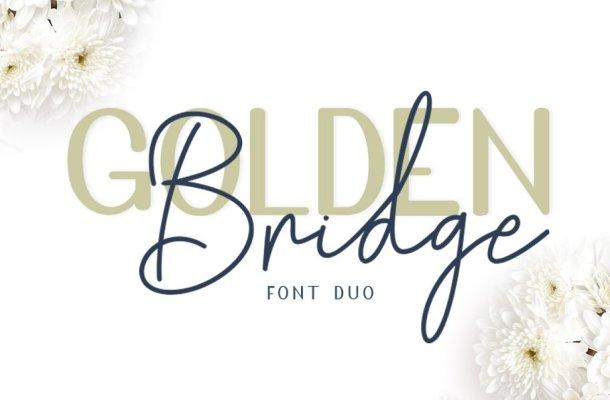 Golden Bridge Font Duo