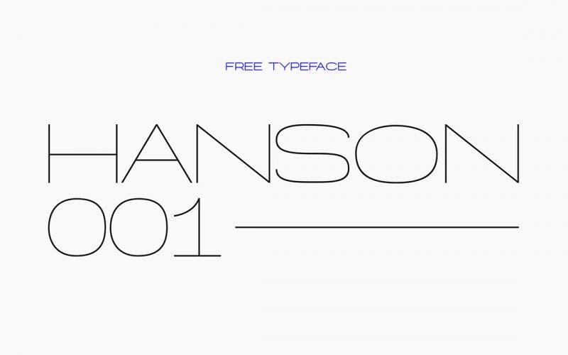 Hanson Hairline Free Font