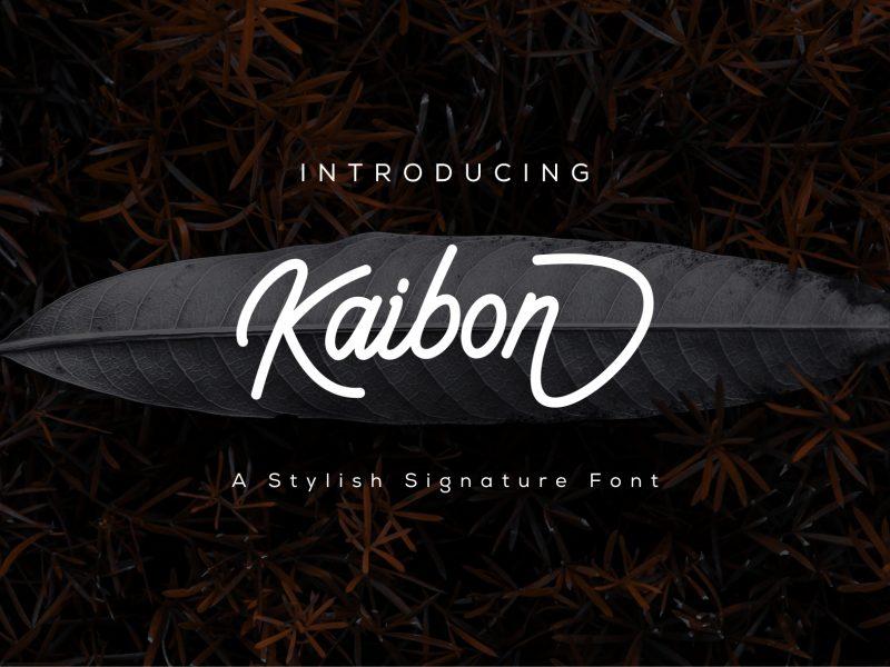 Kaibon Signature Font
