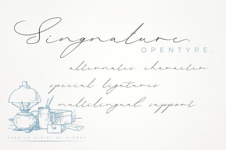 Karmila Signature Font-1