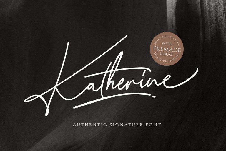 Katherine Signature Font