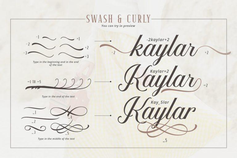 Kaylar Script Font-2