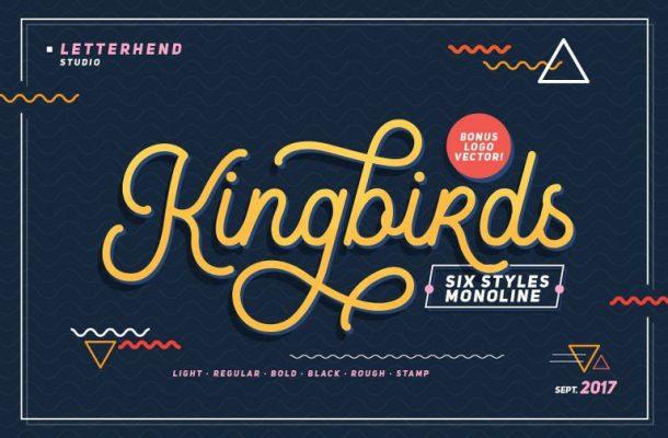Kingbirds Monoline Script Font