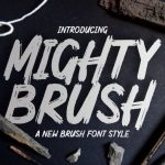 Mighty Brush Font
