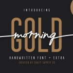 Morning Gold Handwritten Font