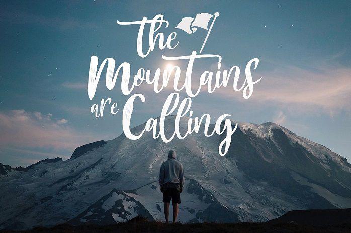 Mountain Brush Font-1