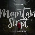 Mountain Brush Font