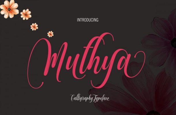 Muthya Script Font