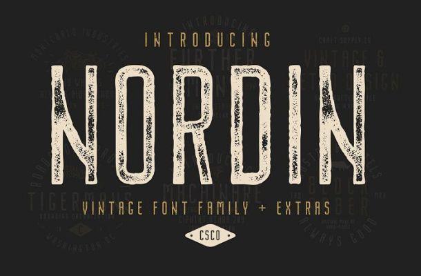 Nordin Vintage Font