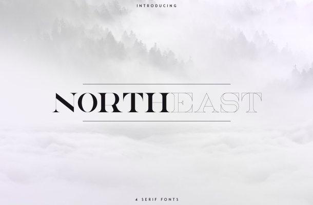 NorthEast Serif Font