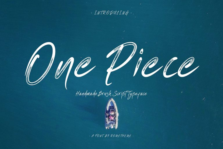 One Piece Brush Font
