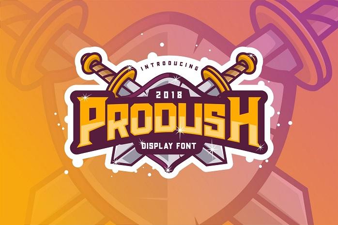 Prodush Typeface