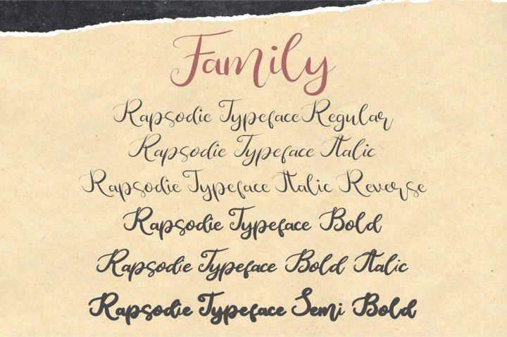 Rapsodie Script Font-2