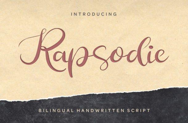 Rapsodie Script Font