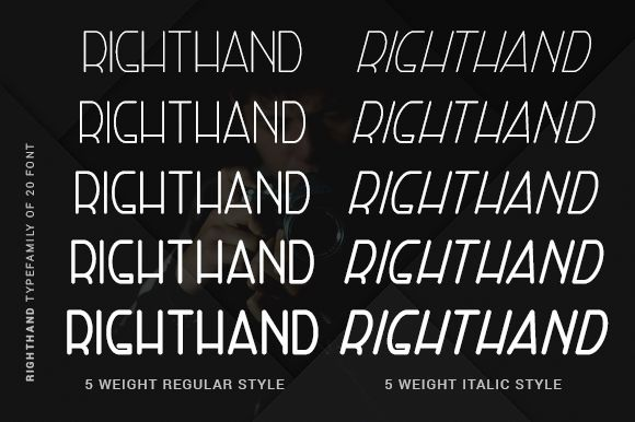 Right Hand Font Family-1