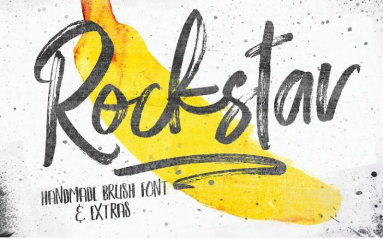Rockstar Handmade Brush Font