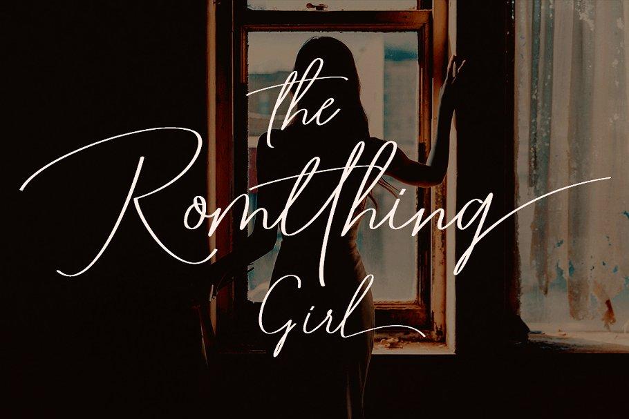 Romtthing Girl Signature Font