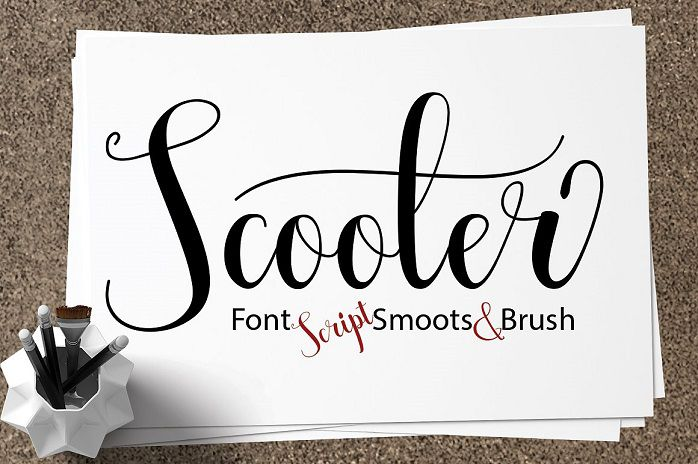 Scooter Script Font - Dafont Free